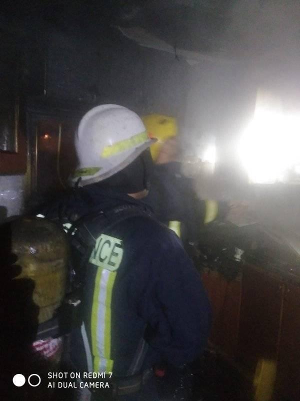 الدفاع المدني يسيطر على حريق بمنزل في جنين
