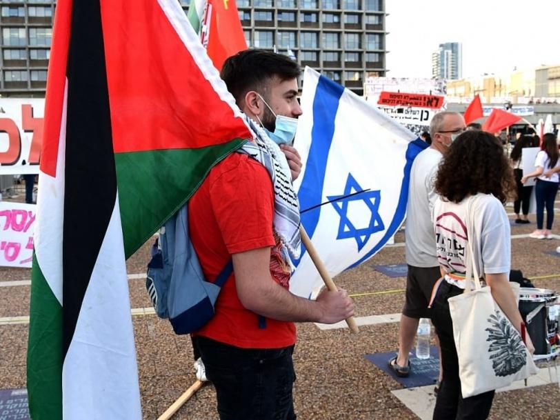 تظاهرة حاشدة في تل أبيب رفضا لمخطط ضم أراضٍ فلسطينية
