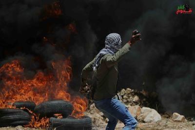 5 اصابات خلال قمع جيش الاحتلال لمسيرة كفر قدوم
