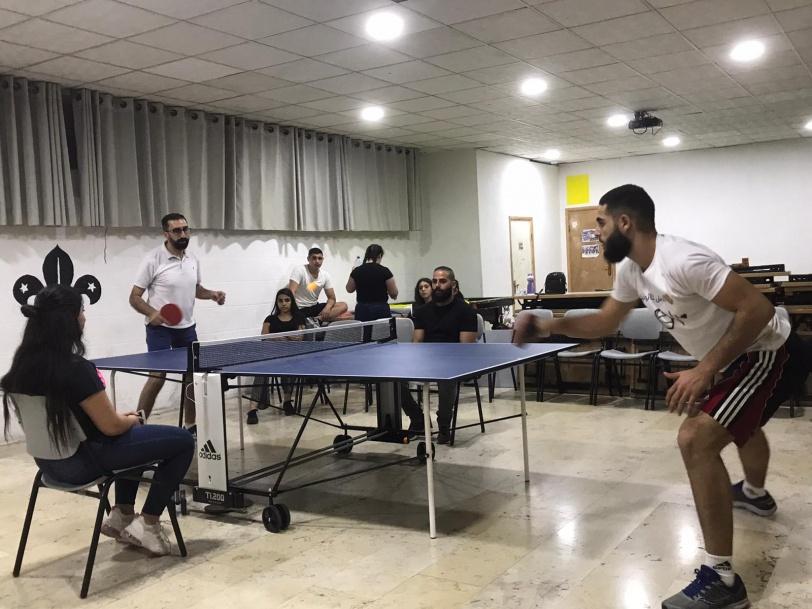 المجموعة البابوية البيتجالية تنظم بطولة داخلية بكرة الطاولة