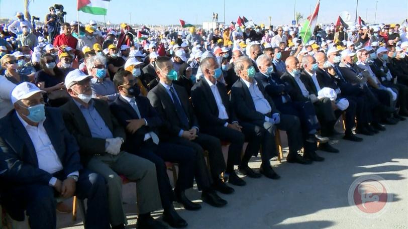 """شاهد- الالاف يشاركون بـ""""مهرجان أريحا"""" رفضا لخطة الضم"""