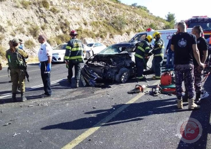 فيديو- مصرع مواطن وإصابة 4 آخرين بحادث سير جنوب بيت لحم