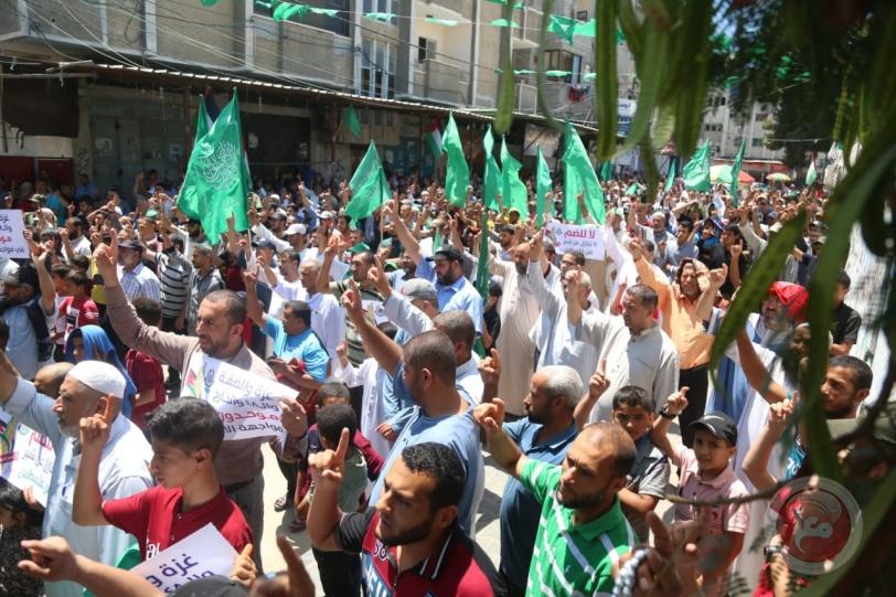 حماس تنظّم مسيرة حاشدة في رفح رفضاً لمخطّط الضم
