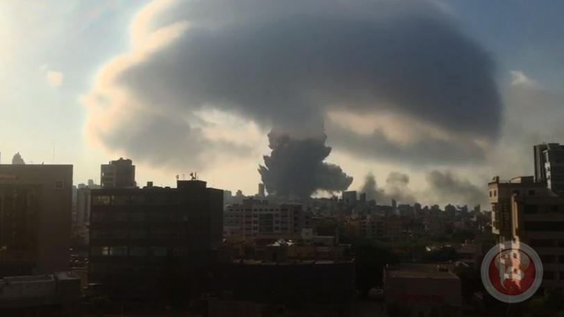 فيديو.. انفجار ضخم يهز العاصمة اللبنانية بيروت
