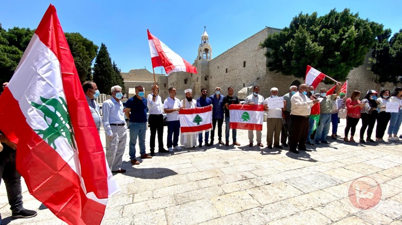 فيديو وصور- وقفة تضامنية مع الشعب اللبناني في بيت لحم