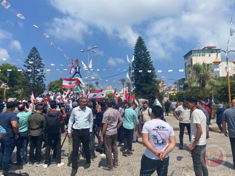 القوى الوطنية في غزة تنظم وقفة تضامنية مع بيروت