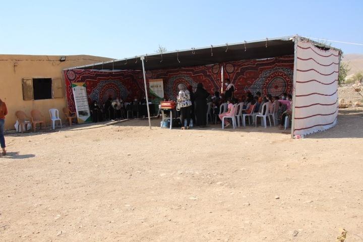 """لجنة الحماية النسوية في تجمع الفصايل تنفذ حفل""""مبادرة الصيوان للأفراح والمناسبات """""""