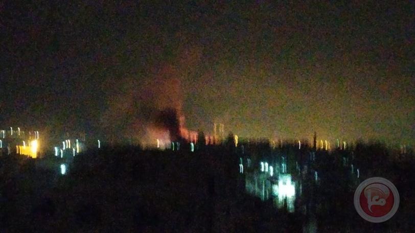 شاهد- طائرات الاحتلال تقصف بقطاع غزة