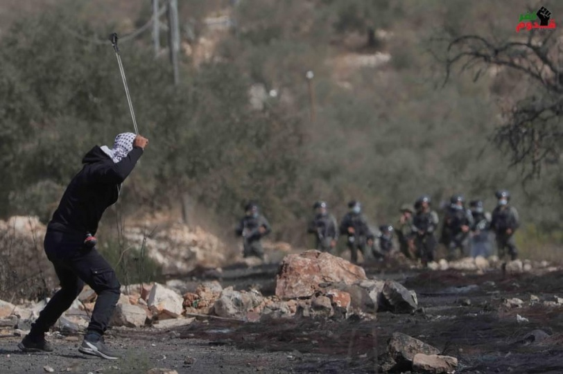 اصابة ٤ شبان برصاص الاحتلال خلال قمع  مسيرة كفر قدوم