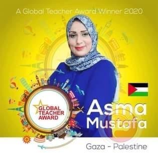 معلمة من غزة تفوز بلقب المعلم العالمي للعام 2020