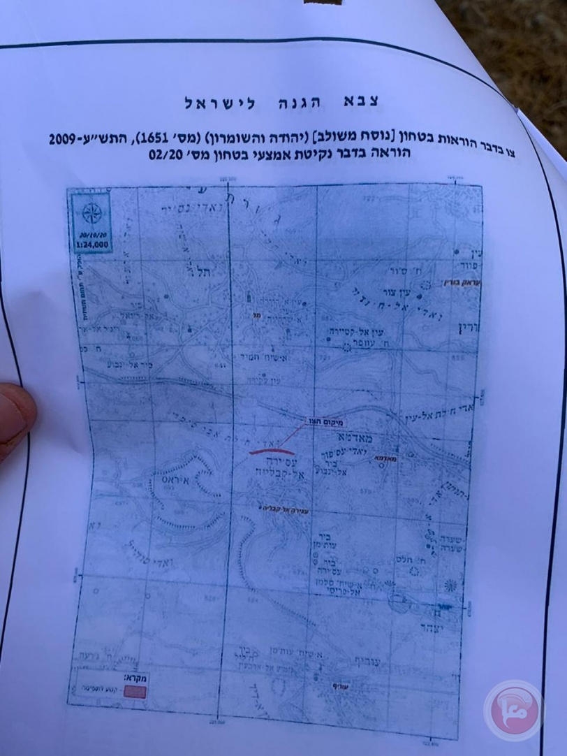 The occupation decides to demolish a 3 km south Nablus street