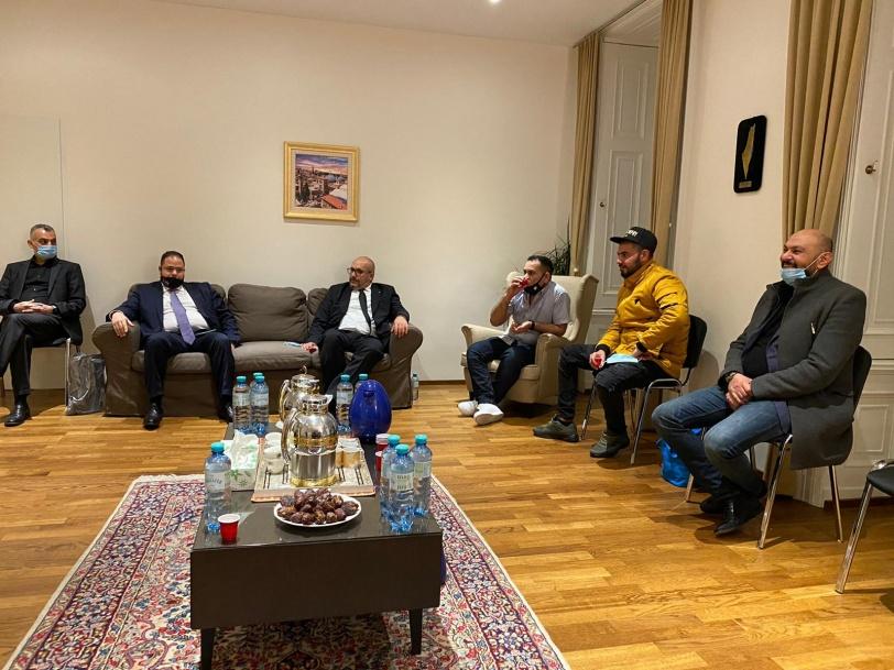 سفارة دولة فلسطين في النمسا تقيم مجلس عزاء للقائد صائب عريقات