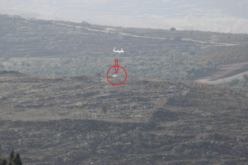 مستوطنون يضعون خزان مياه وينصبون خيمة جنوب نابلس