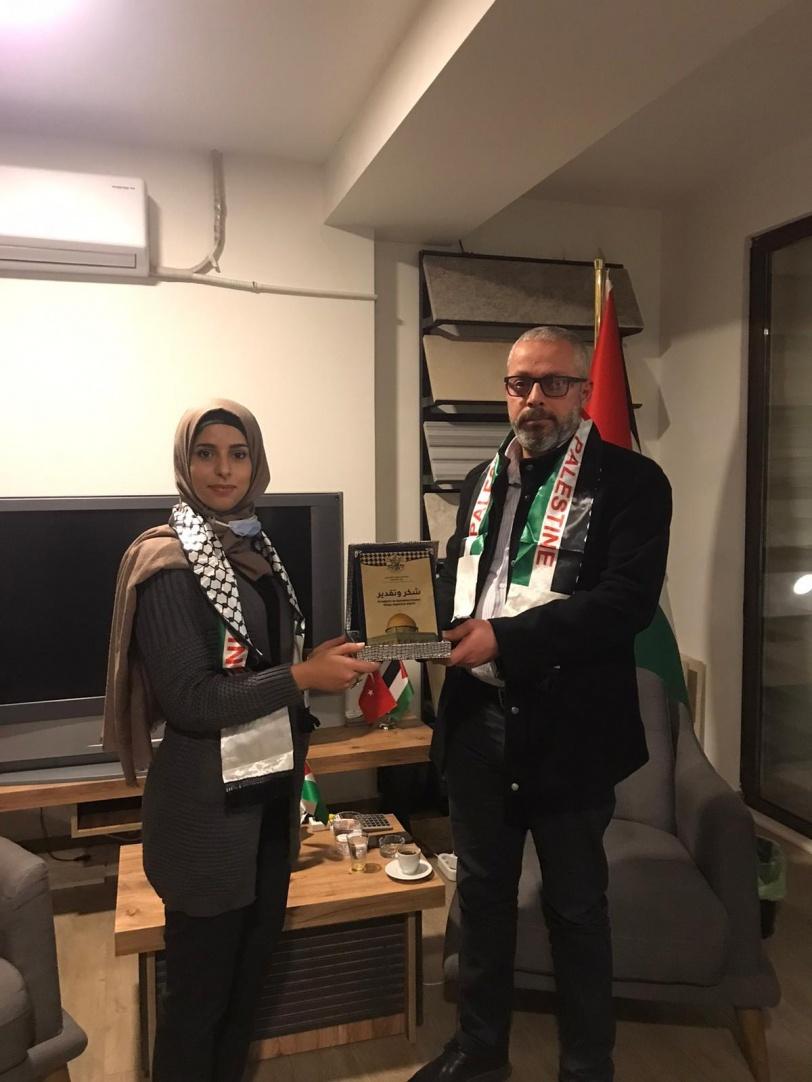 نادي شباب الأعمال الفلسطيني التركي يلتقي سفيرنا وأمين سر فتح
