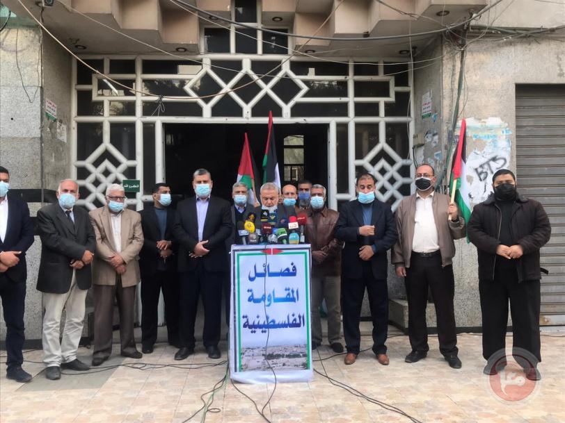 فصائل المقاومة تحمل الاحتلال المسؤولية عن منع إدخال مستلزمات مواجهة كورونا