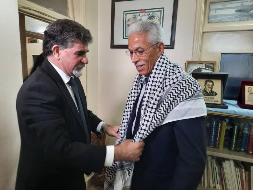 سفيرا الجزائر والأردن بدمشق  يعبران عن تضامن بلادهما مع الشعب الفلسطيني