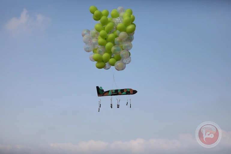 نشطاء يطلقون بالونات حارقة من غزة نحو المستوطنات