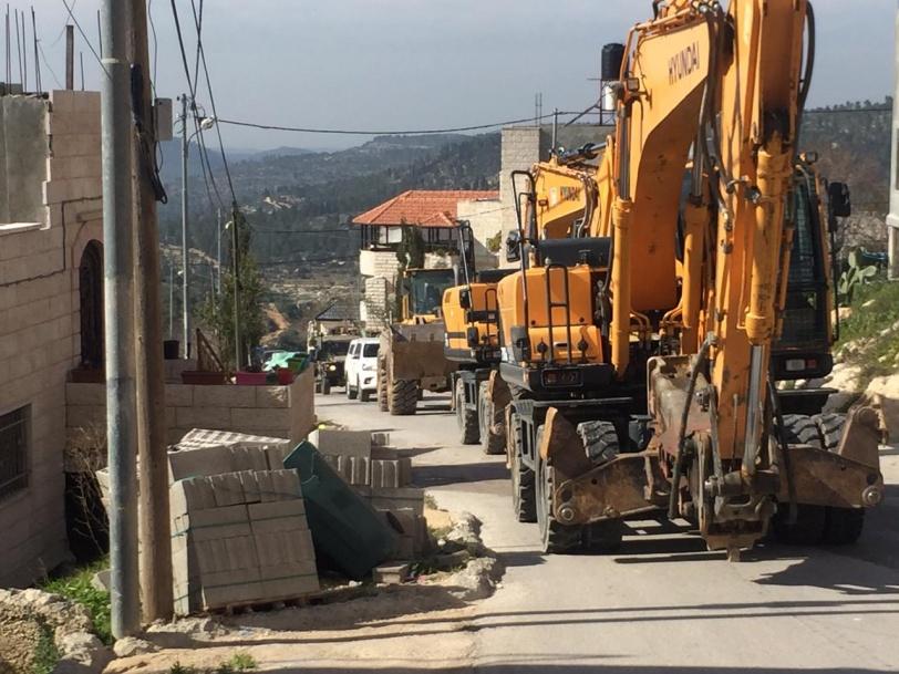 الاحتلال يهدم منزلا في قرية الولجة غرب بيت لحم
