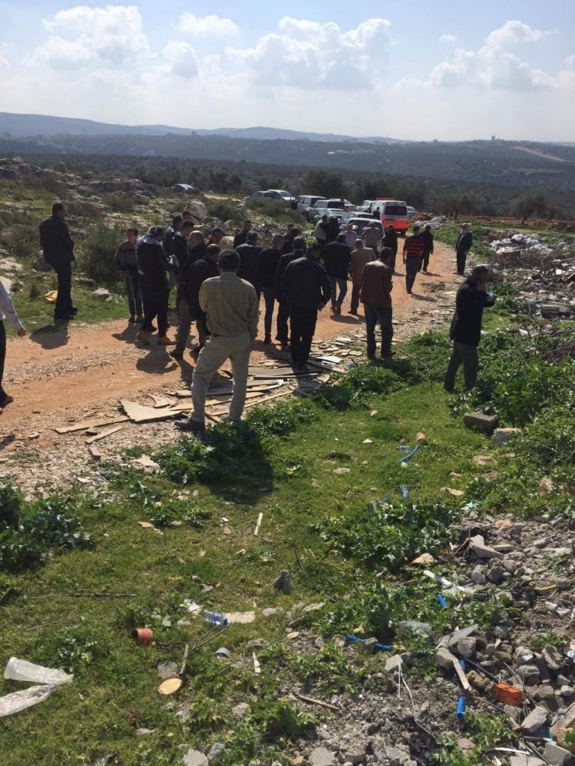 الاحتلال يعتدي على المواطنين في خلة حسان غرب سلفيت