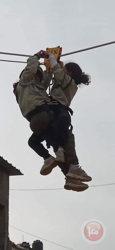 مجموعة كشافة غزة الأولى تطلق فعاليات التسلق والإنزال الكشفي