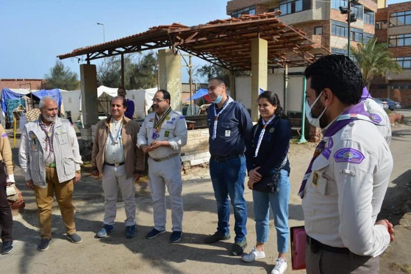 الامين العام لجمعية الكشافة الفلسطينية يزور المعسكر الدولي للكشافة  في بور سعيد