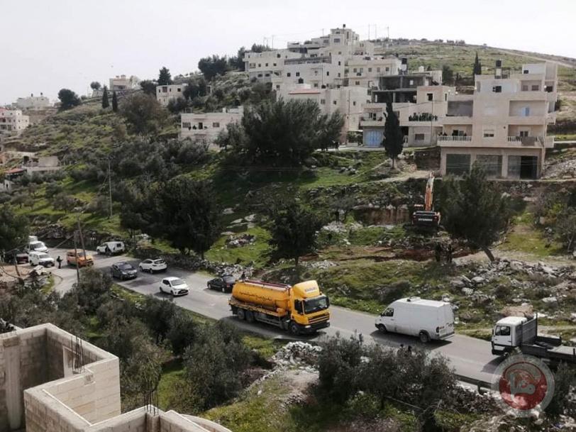 صور- الاحتلال يهدم منزلا قيد الانشاء جنوب بيت لحم