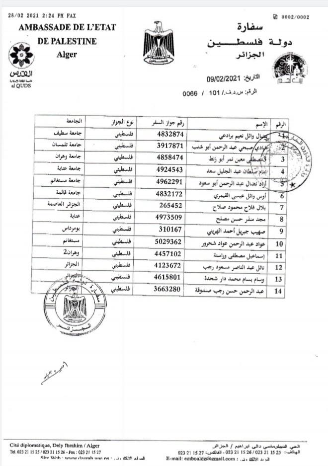 الخارجية: الجزائر توافق على دخول الدفعة الاخيرة من الطلاب