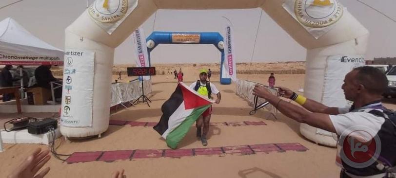 فلسطين تحصل على المرتبة الثانية في سباق التراماراثون تونس الدولي الصحرواي