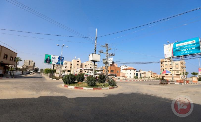 غزة: سريان منع حركة المركبات وتعطيل المؤسسات لمواجهة كورونا (صور)