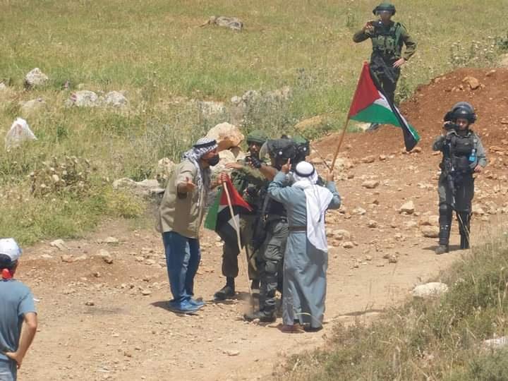 اصابات بالمطاط خلال مواجهات مع الاحتلال في بيت دجن