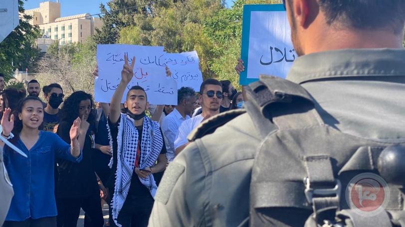 ضرب واعتقال- قمع مظاهرة تضامنية مع الشيخ جراح