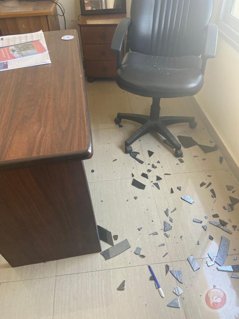 بالصور - تضرر مكتب معا خلال العدوان على غزة
