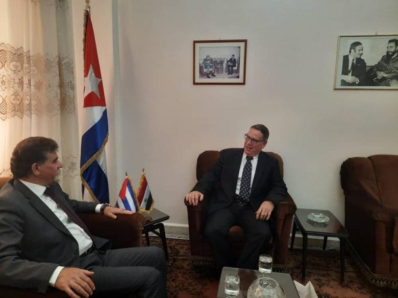 السفير عبد الهادي يبحث مع سفير الاتحاد الأوروبي وسفير كوبا آخر التطورات