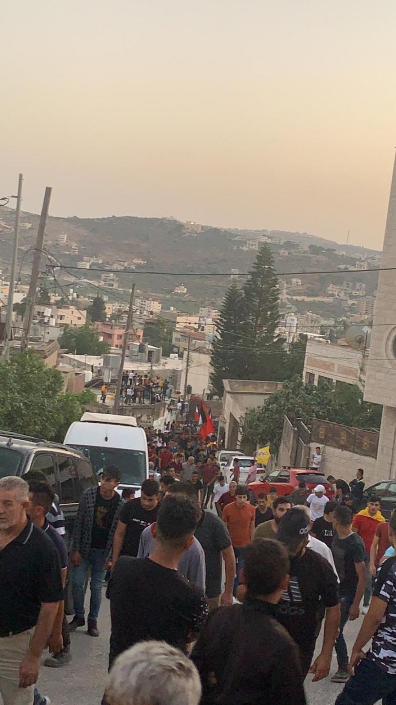 نابلس: تشييع جثمان الشهيد حمايل إلى مثواه الأخير