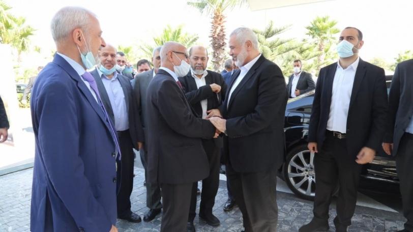 هنية يصل المملكة المغربية على رأس وفد قيادي من حماس