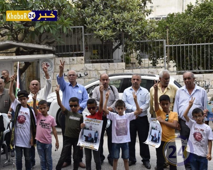 طولكرم: وقفة دعم وإسناد مع الأسرى المضربين