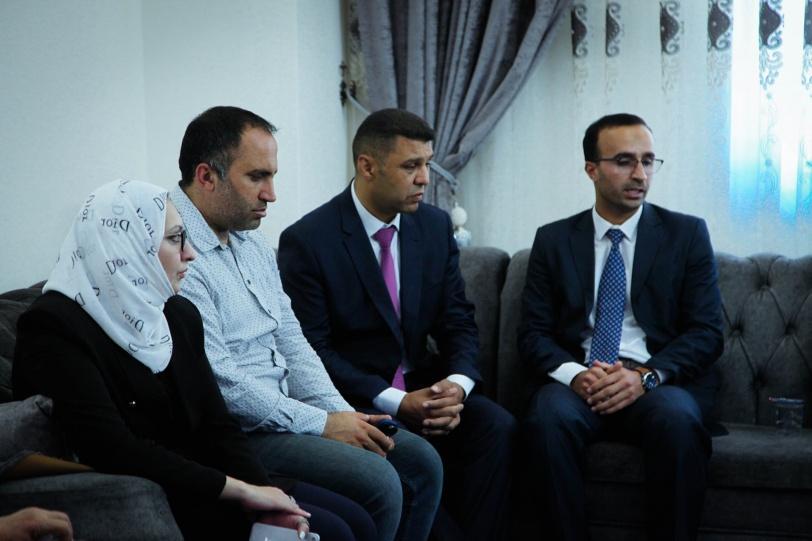 تجمع الكل الفلسطيني يستقبل الوفد الاوروبي في الخليل