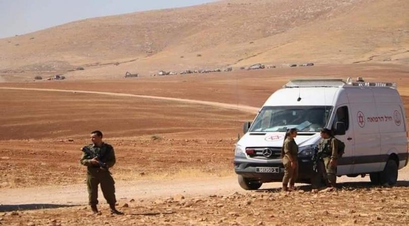 الاحتلال يهدم خربة حمصة الفوقا ويستولي على منشآت المواطنين