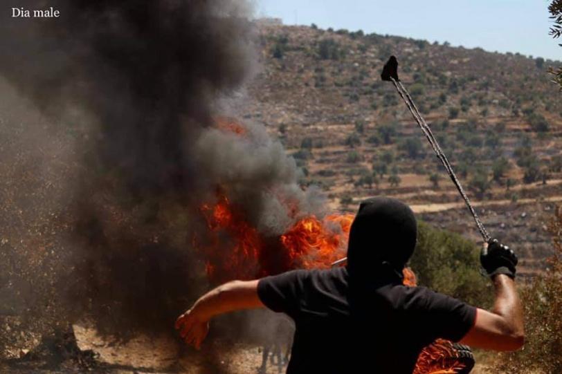 صور- 421 اصابة خلال مواجهات مع الاحتلال جنوب نابلس