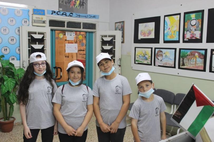 اختتام (مخيم ياسر عرفات 2021) في مركز فنون الطفل بالخليل