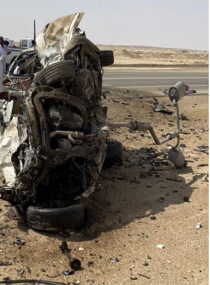 كانوا قادمين لمعايدة ذويهم.. وفاة 8 من عائلة واحدة بحادث مأساوي في السعودية
