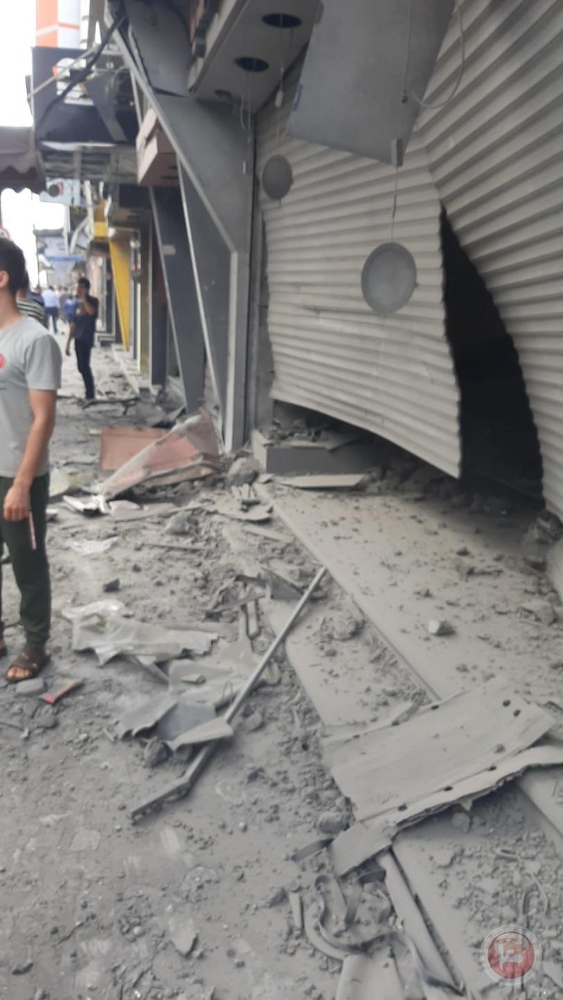 قتيل وعشر اصابات بانفجار محل توزيع غاز بسوق الزاوية بغزة