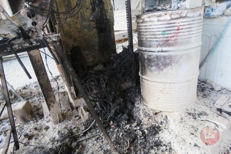 حدث في جماعين..المستوطنون أحرقوا منشار الحجر والأهالي ألقوا القبض عليهم (صور)