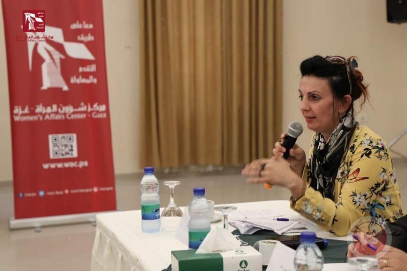 مركز شؤون المرأة ينفذ جلسة حوارية حول تداعيات تأجيل إعادة الإعمار في قطاع غزة