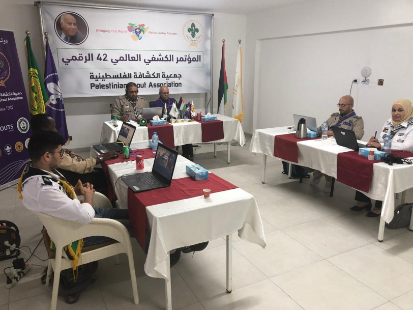 بمشاركة جمعية الكشافة الفلسطينية- بدء اجتماعات المؤتمر الكشفي العالمي ال42 الرقمي
