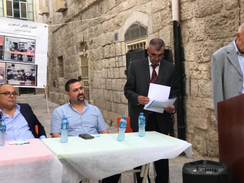 """""""منبر أدباء بلاد الشام"""" و""""الديوان الثقافي الساحوري"""" يستضيفان وزير الثقافة"""