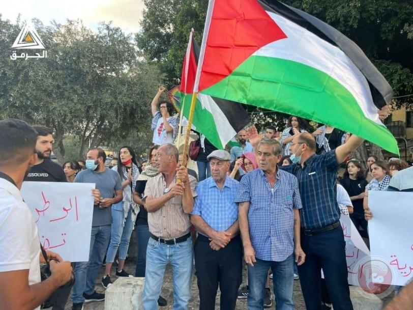الناصرة.. وقفة إسناد وهتافات بالحرية للأسرى
