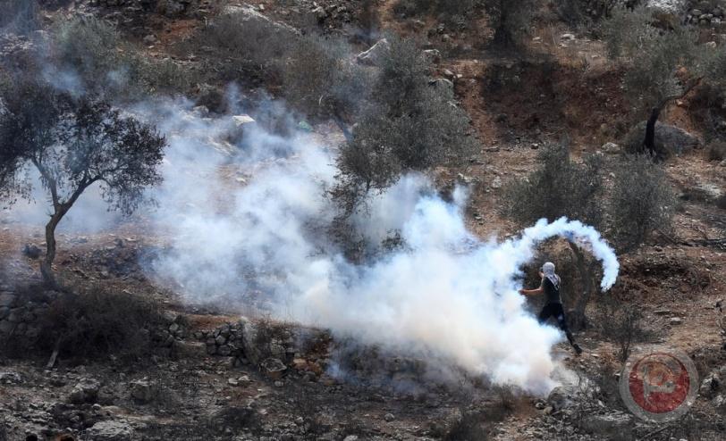 217 اصابة خلال مواجهات مع الاحتلال في نابلس