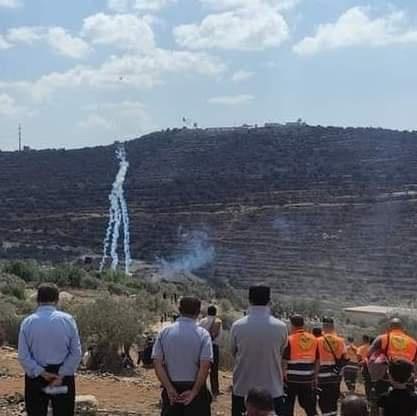 46 اصابة خلال مواجهات على جبل صبيح وبيت دجن بنابلس