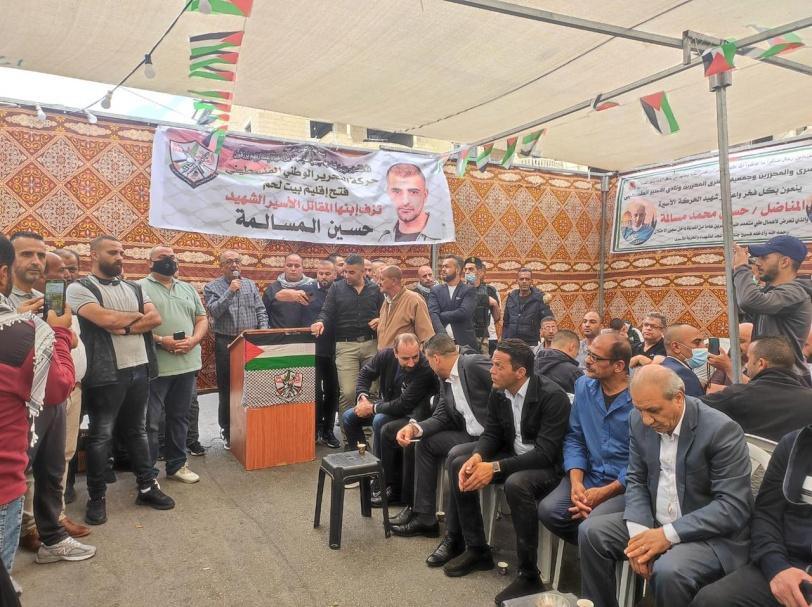 رئيس جهاز المخابرات العامة  اللواء ماجد فرج يعزي باستشهاد الاسير حسين مسالمة